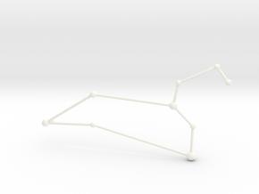 Leo Necklace in White Processed Versatile Plastic