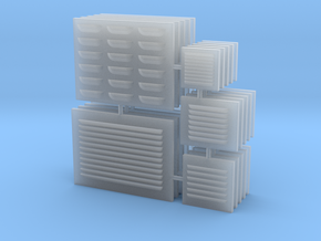 1/18 scale Louver Panels in Smooth Fine Detail Plastic