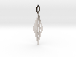 Pendant Sticks in Rhodium Plated Brass