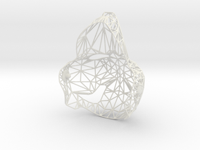 Puppethead8 - reduced mesh in White Natural Versatile Plastic