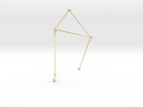 Libra Necklace in 14K Yellow Gold