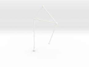 Libra Necklace in White Processed Versatile Plastic