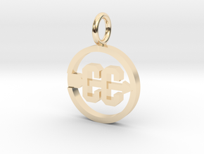 Cross Country Pendant/charm in 14k Gold Plated Brass