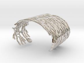 Purkinje Neuron Bracelet in Rhodium Plated Brass