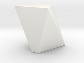 Salt Shaker in Gloss White Porcelain