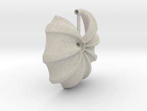 Floral Necklace / Pendant-17 in Natural Sandstone