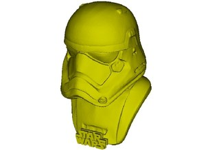 1/9 scale Star Wars Imperial stormtrooper bust in Smooth Fine Detail Plastic