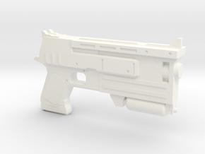 10mm Pistol Pendant in White Processed Versatile Plastic