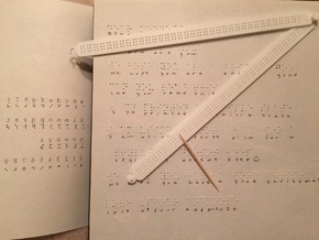 Manual Braille Slate and Stylus in White Natural Versatile Plastic