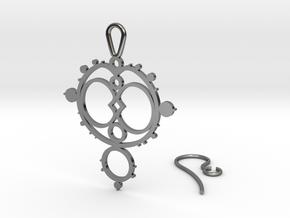 Mandelbrot Earring in Fine Detail Polished Silver