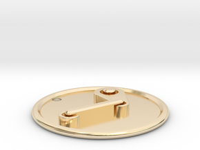 Steam Pendant in 14k Gold Plated Brass