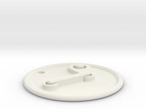 Steam Pendant in White Natural Versatile Plastic