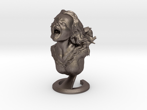"""Joyful Yell"" bust in Stainless Steel"