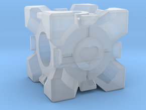 Companion Cube Bead in Smooth Fine Detail Plastic
