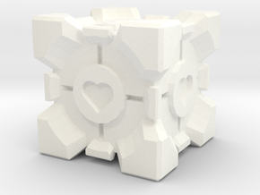Companion Cube  in White Processed Versatile Plastic