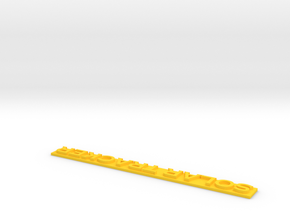 Tracker Lettrage 1 in Yellow Processed Versatile Plastic