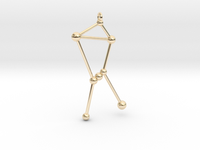 Orion Constellation Pendant in 14k Gold Plated Brass