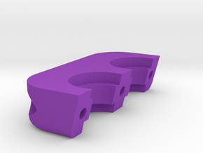 Dual all metal hotend mount clamp for RepRap in Purple Strong & Flexible Polished