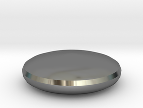 Button Top in Fine Detail Polished Silver