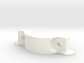 Effector Hotend Mount Clamp in White Processed Versatile Plastic