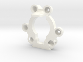 Kossel Mini Effector Body for Magnetic Ball Joint  in White Processed Versatile Plastic