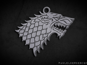 Stark Pendant: 3cm in Polished Bronzed Silver Steel