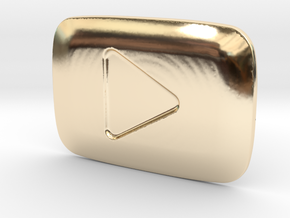 **ON SALE** YouTube Play Button Award in 14K Yellow Gold