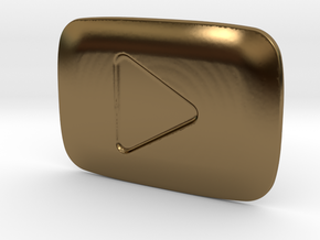 **ON SALE** YouTube Play Button Award in Polished Bronze