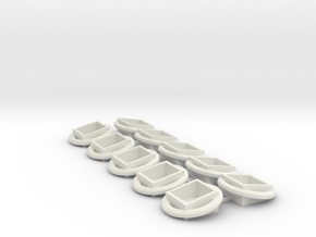 Eclipse Orbital - Pack of 10 in White Natural Versatile Plastic