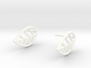 Mini leaf in White Processed Versatile Plastic