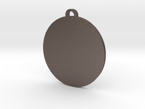 Pangea Pendant in Polished Bronzed Silver Steel