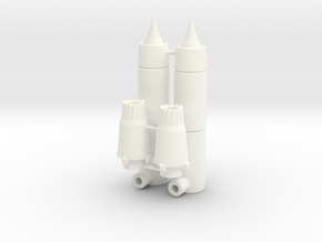 Ramair Engine Boosters in White Strong & Flexible Polished