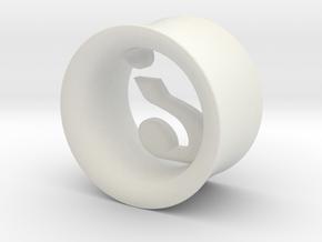 Mysterion (diam 9mm) in White Natural Versatile Plastic