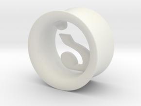 Mysterion (diam 10mm) in White Natural Versatile Plastic