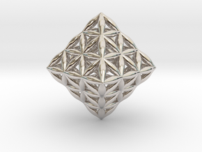 Flower Of Life Octahedron in Platinum