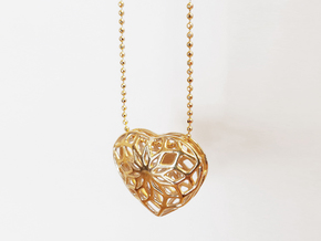 Valentine Heart - Big in Polished Brass