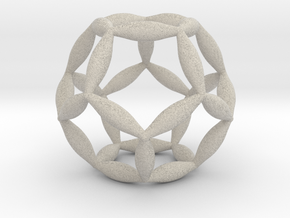 Flower Of Life Dodecahedron in Natural Sandstone