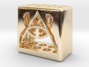 Illuminati 8 Pen Holder in 14K Yellow Gold