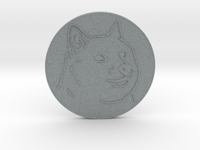 Dogecoin in Polished Metallic Plastic