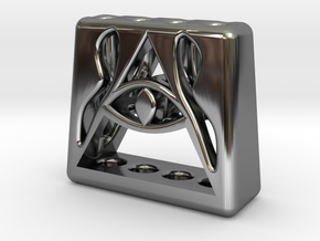 Illuminati 4 Pen Holder in Fine Detail Polished Silver