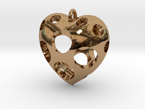 Heart Pendant #3 in Polished Brass