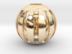 Cat Toy in 14k Gold Plated Brass