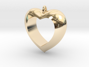 Heart Pendant #4 in 14K Yellow Gold