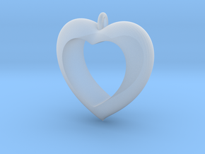 Heart Pendant #4 in Smooth Fine Detail Plastic