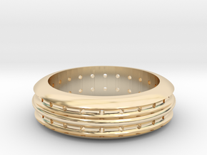 48h ring in 14k Gold Plated Brass