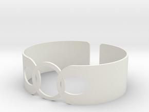 Link Bracelet in White Natural Versatile Plastic