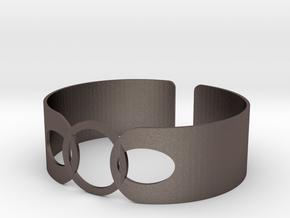 Link Bracelet in Polished Bronzed Silver Steel