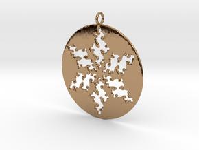 Julia Star Pendant in Polished Brass