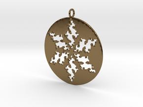 Julia Star Pendant in Polished Bronze