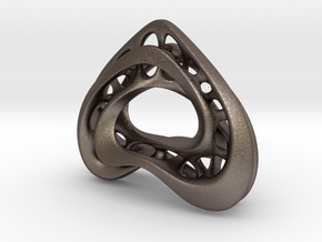 LoveHeart RoyalModel in Polished Bronzed Silver Steel